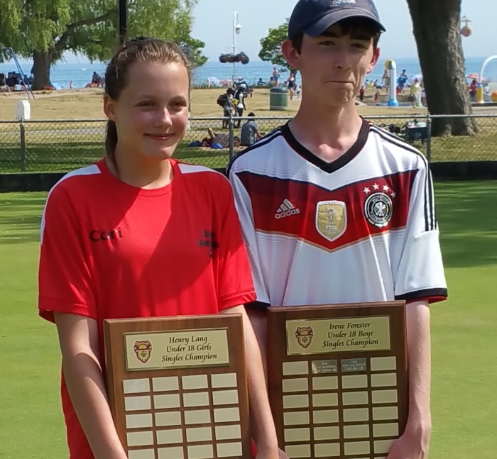 Gold medal winners Cori Millard and Owen Kirby