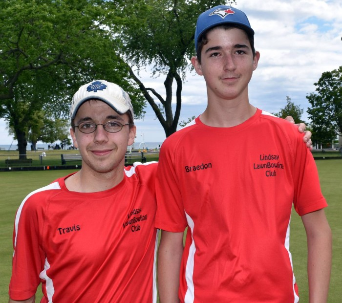 Winners Cobourg Junior Open Pairs 2016 Travis and Braedon 1st place